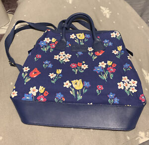 Cath Kidston Spring Flowers Combination Handbag And Backpack With Leather Trim