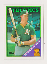 1988 Topps Baseball Mark McGwire #580 All Star Rookie Nm/Mt Centered Free Ship