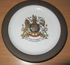 Vintage 1977 Hornsea England Plate Dish Queen Elizabeth II Silver Jubilee 52-77