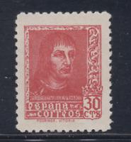 ESPAÑA (1938) NUEVO SIN FIJASELLOS MNH SPAIN -EDIFIL 844 (30 cts) FERNANDO LOTE2