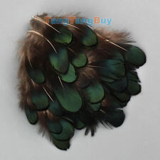 "50pcs Beautiful Natural Pheasant Green Feathers 2""-3"" For Crafts Millinery DIY"
