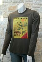 MOSCHINO Men's 100% Cotton Seaweed Long Sleeve T-Shirt Free Shipping New w Tags