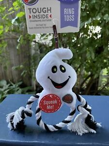 K9 Tuff Guard Charming - Halloween Ring Toss Ghost - Squeaky Dog Toy