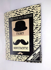 Moustache Magnetic Picture Frame and Magnets - Black White/Hat