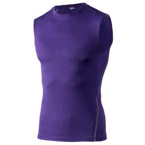 Men Basic Sleeveless T-Shirt Fitness Running Sportswear Quick Dry Athletic Tops