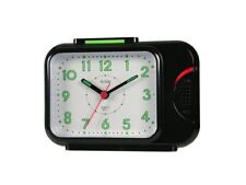 Quartz Acctim Sonnet Bell Alarm Clock [Black 12613] With Light And Snooze