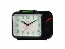 Cuarzo Acctim Sonnet Campana Reloj despertador [Negro 12613] con luces y snooze