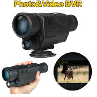 BOBLOV 5x40 Zoom Night Vision Monocular  Infrared IR 2M-200M Viewing Range DVR