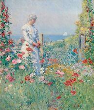 """Childe Hassam : """"Celia Thaxter in Her Garden"""" (1892) — Giclee Fine Art Print"""