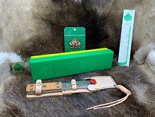 1984 Puma Treff I Throwing Knife & Leather Sheath Mint In Factory G/Y Box + Tag
