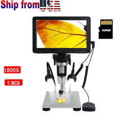 7 1200x Lcd Monitor Electronic Digital Video Hd Usb Microscope With Led Magnifier