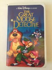 The Great Mouse Detective VHS Walt Disney Classic Black Diamond Clamshell Case