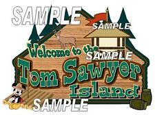Disney World Tom Sawyer Island Scrapbook Paper Die Cut Piece