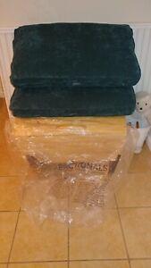 Lovesac Sactional Back Pillow and cover in Mediterranea Corded Velvet