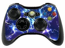 Blue Electric Xbox 360 Remote Controller/gamepad Skin / Vinyl Cover Graphic Cut