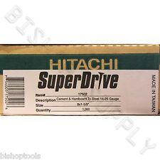Hitachi 17502 1000ct SuperDrive Cement & Hardboard to Steel Screws NEW Durock