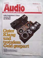 Audio Spécial pression, 1/82, 6 pages, Wega 300, TECHNICS SB 4, SONY SS e71, ONKYO SC 400