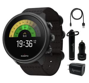 SUUNTO 9 Baro Multisport GPS Smartwatch Charcoal Titanium with Power Pack