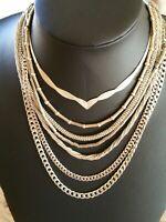 Fantastic  Lot of 7  Mixed  Sterling Silver  Modernist Design Necklaces.
