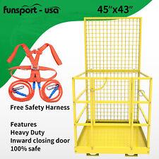 Telehandler Forklift Safety Cage Basket Man Work Stand Platform Heavy Capacity