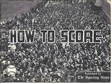 1967 Vintage How to Score by The Sporting News