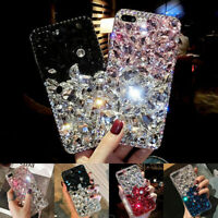 For iPhone 12 Pro Max 11 XS XR 8 7 Bling Sparkle Glitter Full Diamond Case Cover