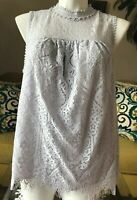 TAYLOR & SAGE LIGHT LILAC LACE - LINED - TUNIC TOP - 1X
