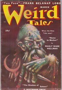 Weird Tales Pulp Magazine March 1950 Frank Belknap Long ALL NEW STORIES!!!