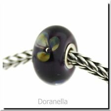 Authentic Trollbeads Glass 61401 Violet Flower :1