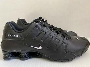 Nike Shox NZ Running Men's Sz 11 Leather Black Shoes 501524 091