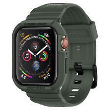 Apple Caja de Reloj + banda serie 6 5 4 SE (44mm) | Spigen ® Rugged Armor Pro []