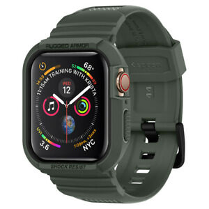 Apple Watch Case + Band Series 6/5/4/SE (44mm) | Spigen® [Rugged Armor Pro]