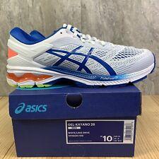 Asics Gel Kayano 26 Size 10 Mens White Lake Drive Blue Running Shoes