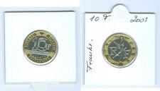 """France 10 FRANCS 2001 """" ESPRIT la Bastille """" pièce de monnaie"""