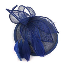 Large Navy Comb Hat Fascinator Ladies Day Races Weddings Royal Ascot 12