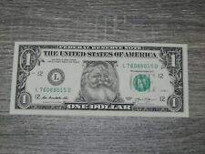 The Santa Claus $1 Dollar Bill Real U.S. One Dollar Bill Money Santa Dollar New