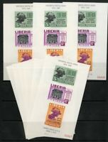 Liberia Stamps # C67A XF OG NH (9) S/S As A Lot