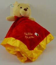Winnie the Pooh Binky Blanky Disney Baby 0+ Velour & Satin Red and Yellow