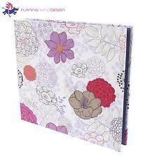 "JSP Medium 80 Photos Slip In Photo Album 6""x4"" Quality Fininsh W/ Purple Flowers"