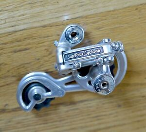 Vintage Suntour Cyclone Rear Derailleur Long Cage Touring Ready Excellent !