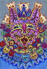 Louis Wain Cat With Cat Necklace Poster Reproduction Giclee Canvas Print