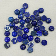 Wholesale 50pcs/lot 10mm natural Lapis Lazuli round CAB CABOCHON stones beads