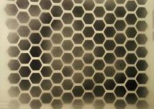 "Hex Pat Stencil! Craft airbrush custom shirt honeycomb tattoo hat paint 11"" x 8"""
