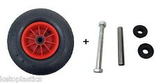 "12"" PNEUMATIC WHEEL 4.00-6 SACK TRUCK TROLLEY WHEELBARROW WHEEL 1/2"" BORE + AXLE"