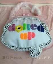 SOPHIA WEBSTER Dolled Up Beaded Speech Bubble Bag White