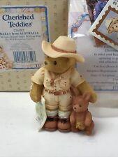 Cherished Teddies: Bazza from Australia. Explorer, kangaroo Bear Figurine.