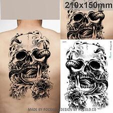 Skull temporary tattoos Extra large Arm Back Body Art Tatoo Waterproof sticker
