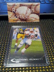 2001 Press Pass Football # 17 Michael Bennett Wisconsin Badgers Vikings