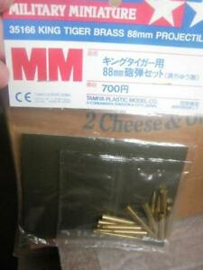 TAMIYA 1:35 scale KING TIGER BRASS TANK PROJECTILES 88mm  [ 3 x TYPES ] SEALED