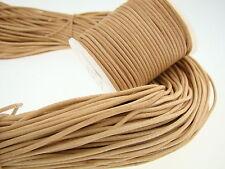 Cuerda de piel redonda de 3 mmNatural.Longitud seleccionable. 1 m naturaleza